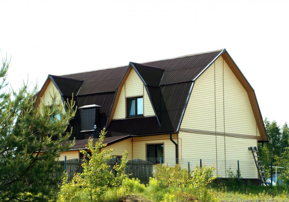 brązowe pokrycie dachowe ONDULINE CLASSIC realizacje