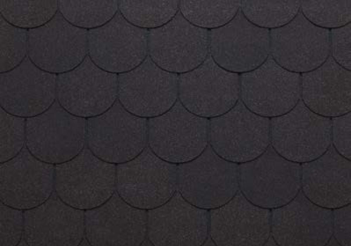 brązowe półokrągłe gonty dachowe bardoline