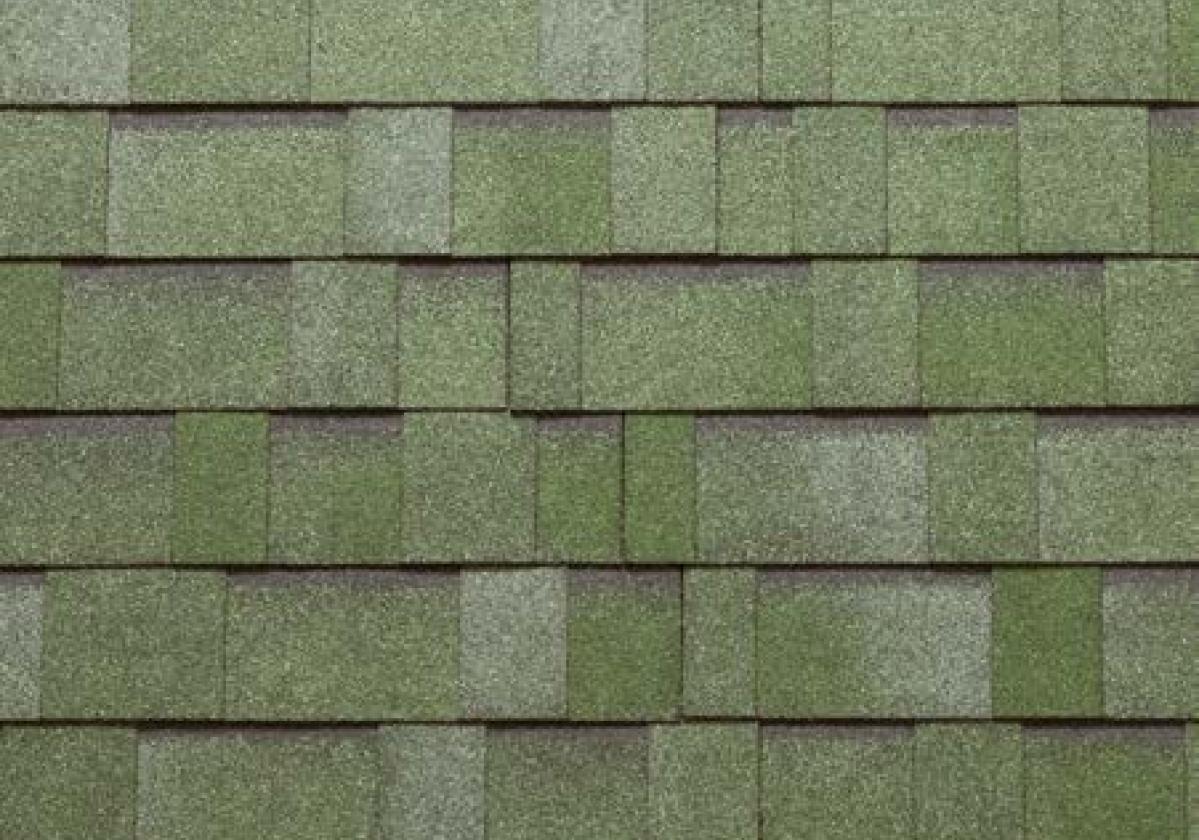 zielone prostokątne gonty bitumiczne