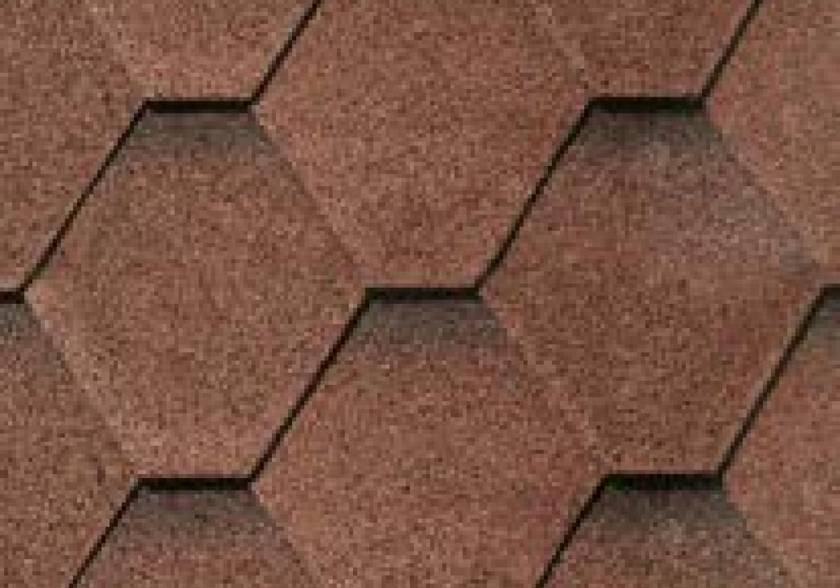 brązowe haksagonalne gonty bardoline pro