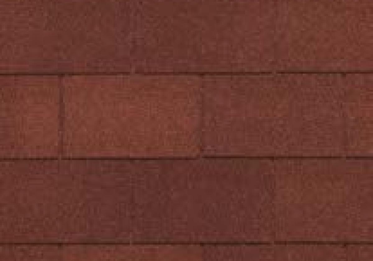 czerwone prostokątne gonty bitumiczne
