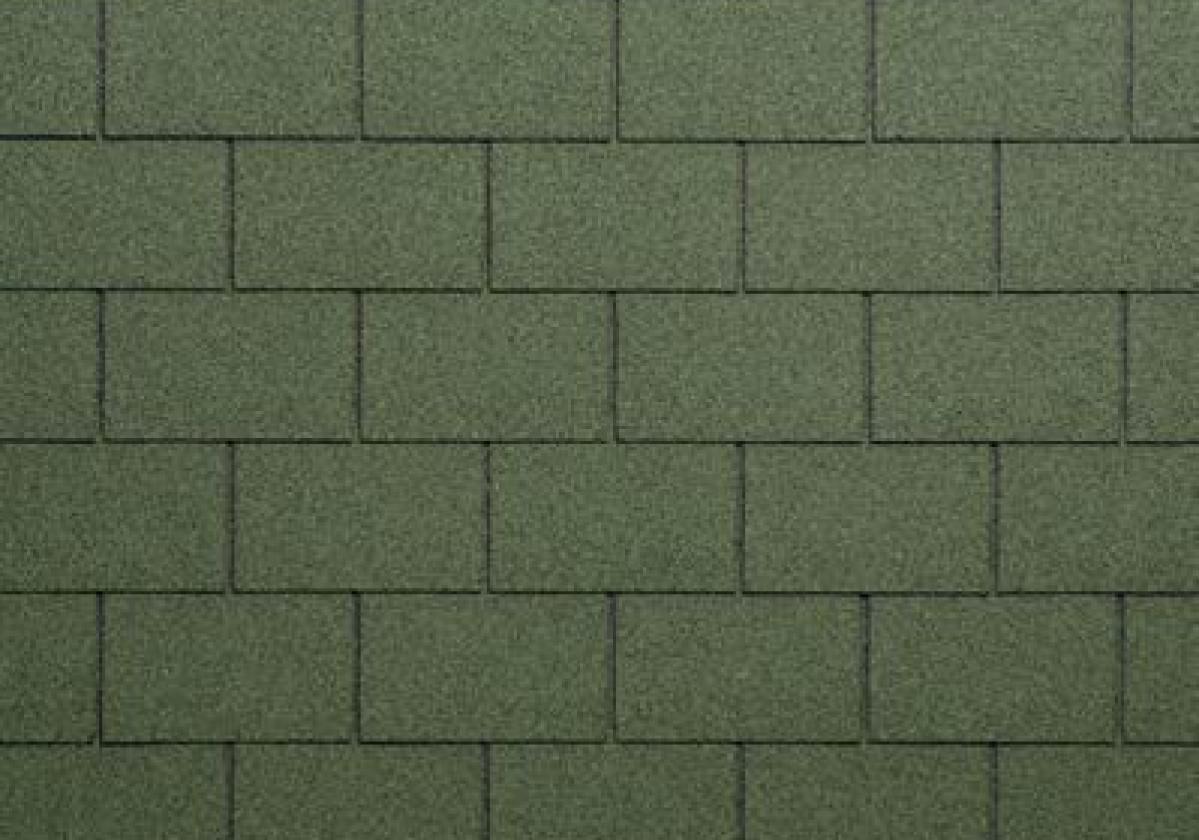 zielone prostokątne gonty dachowe onduline