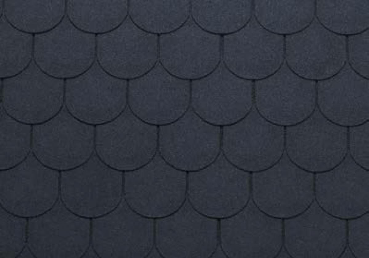 szare półokrągłe gonty dachowe bardoline