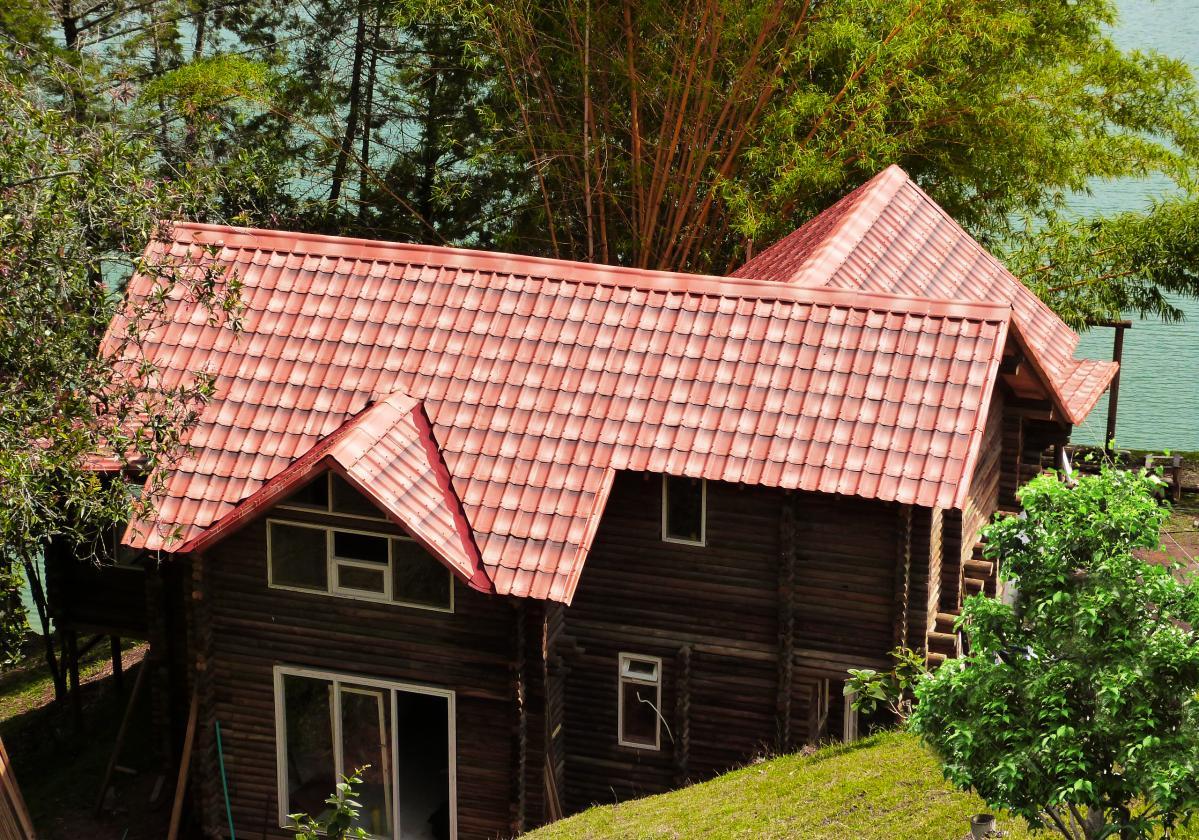 Beżowa płyta dachowa Onduvilla realizacje
