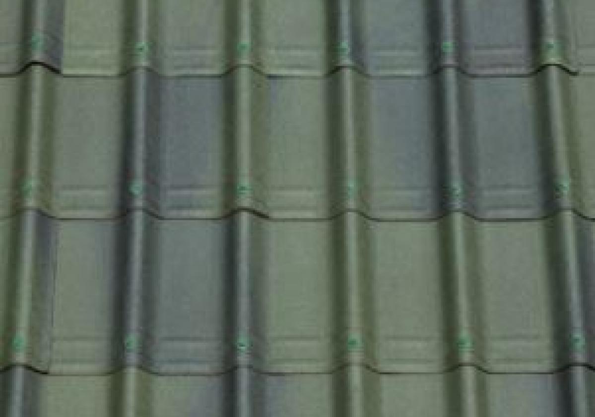Zielona płyta dachowa