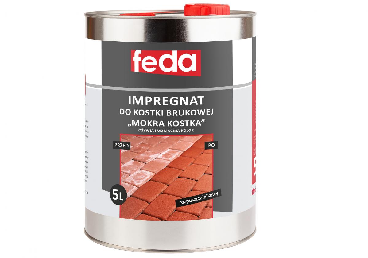 """Rozpuszczalnikowy impregnat do kostki brukowej FEDA """"mokra kostka"""" 5L"""